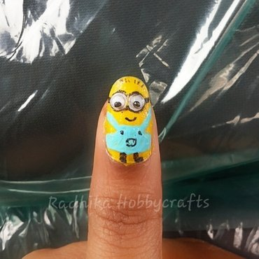 Minion  nail art by Radhika