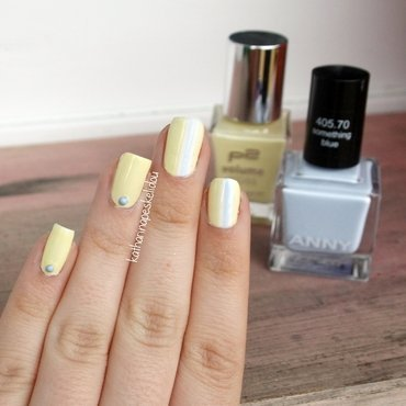Yellow Chipmunk nail art by katharinapeskelidou