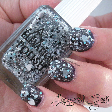 Elevation Polish Con Tanto Affetto, Yeti Swatch by Kim (Lacquered Geek)