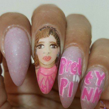 PRETTY IN PINK nail art by Milly Palma
