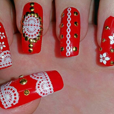 Blue fake nails with white polka dots nail art by ellie louise il fullxfull786290700 cl2l thumb370f prinsesfo Images