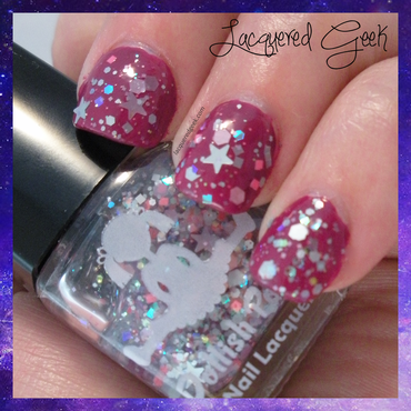 Dollish Polish Care Bear Stare Swatch by Kim (Lacquered Geek)