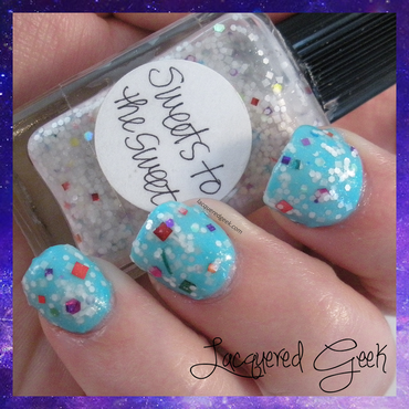 Lynnderella Sweets to the Sweet Swatch by Kim (Lacquered Geek)