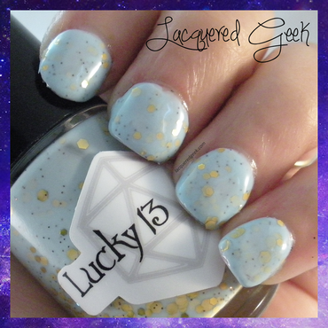 Lucky 13 Lacquer Softening the Bad Things Swatch by Kim (Lacquered Geek)