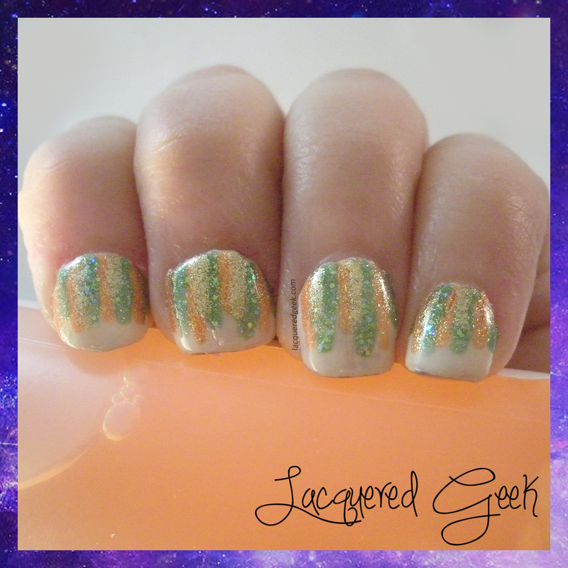 Fall Waterfall nail art by Kim (Lacquered Geek)