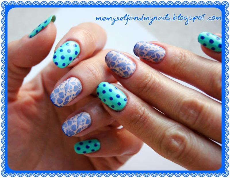 Emerald garden nail art by ELIZA OK-W