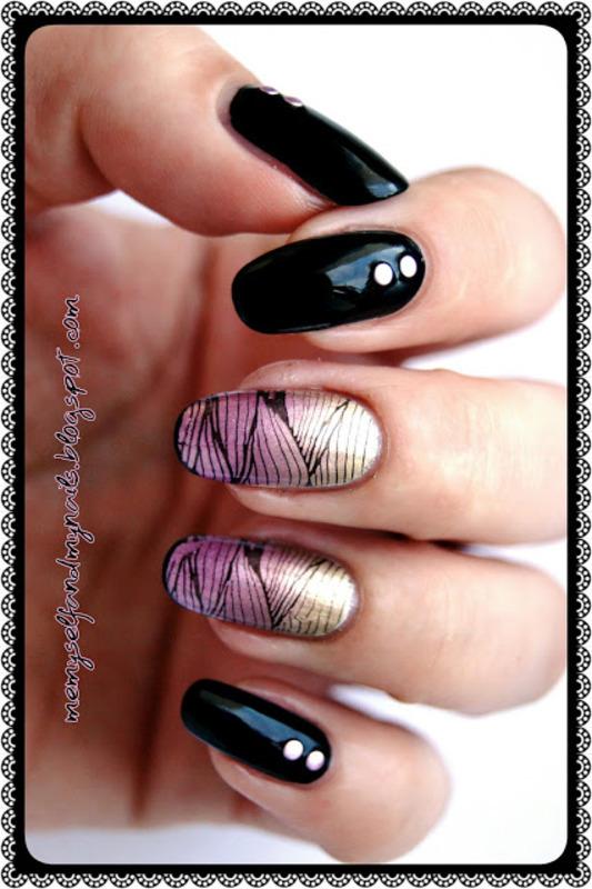 Metal plaiting nail art by ELIZA OK-W