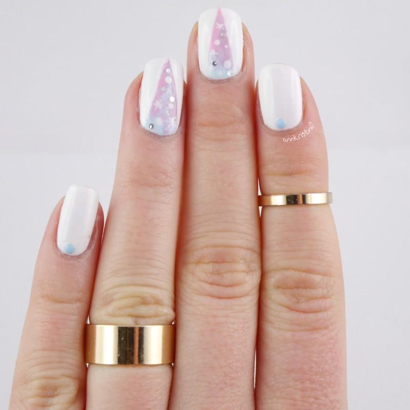 Pastel Galaxy Nails nail art by Ann-Kristin