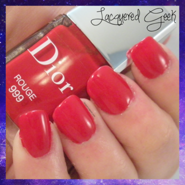 Dior Rouge 999 Swatch by Kim (Lacquered Geek)