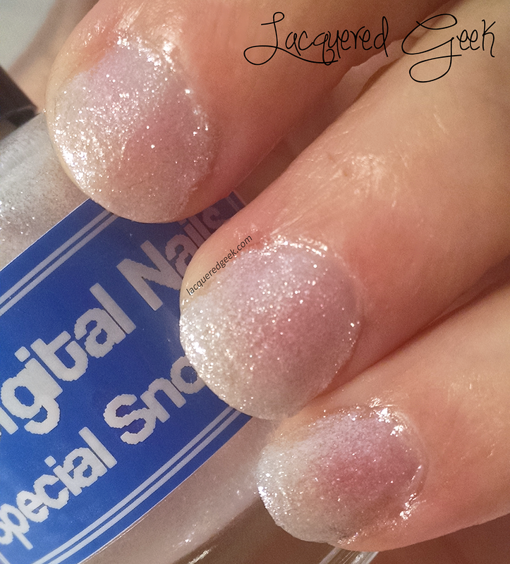 Digital Nails Special Snowflake Swatch by Kim (Lacquered Geek)