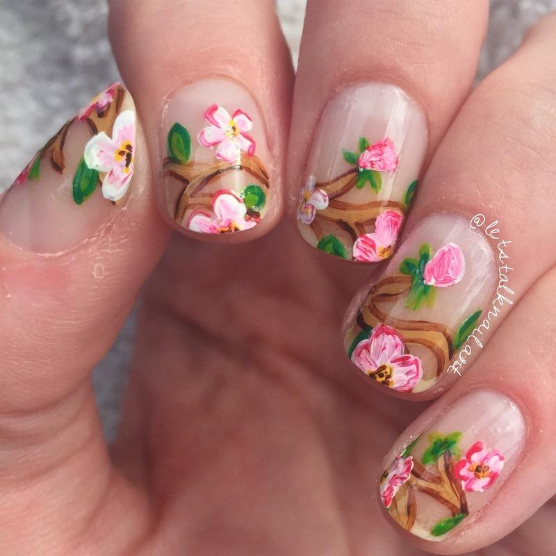 Blossom nails  nail art by Lottie