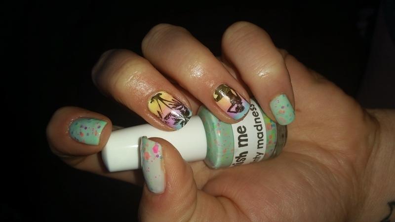 summer feeling nail art by redteufelchen86