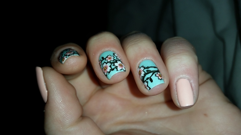 cherry blossom nail art by redteufelchen86