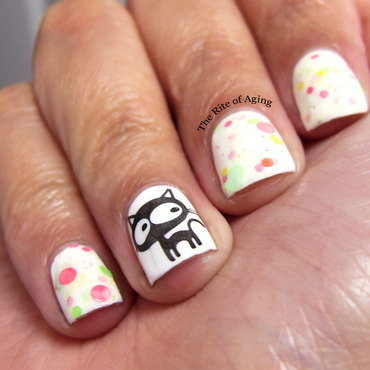 Cat Stamping Nail Art nail art by Monica