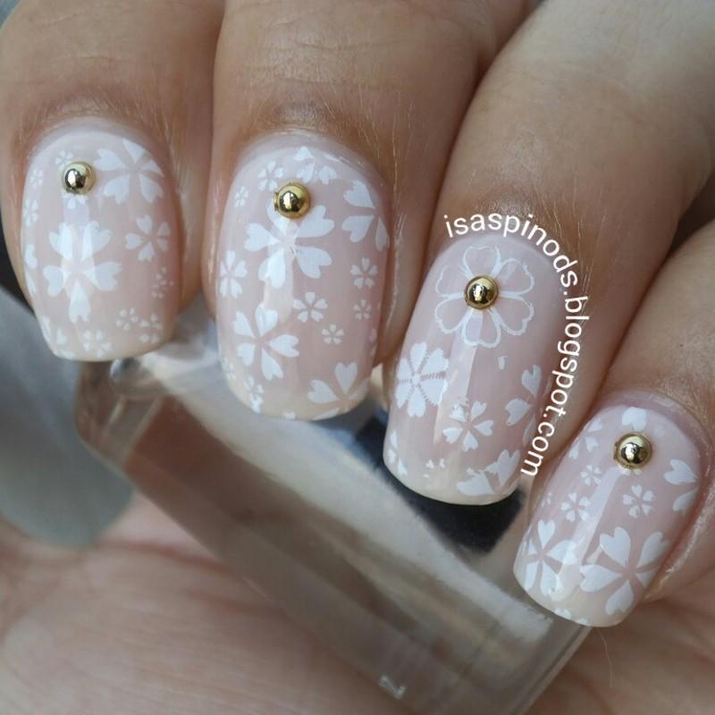 #Reto31Dias2015 Día 14 - Flores nail art by Isabel