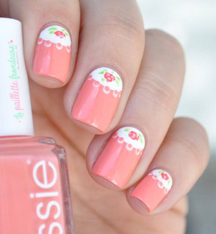 romantic roses half moon nail art by nathalie lapaillettefrondeuse