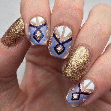 Fashion inspired nail art by Lottie
