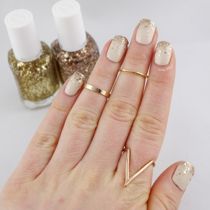 Essie Glitter Gradient nail art by Ann-Kristin