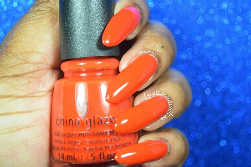 China Glaze The Heat Is On Swatch by glamorousnails23