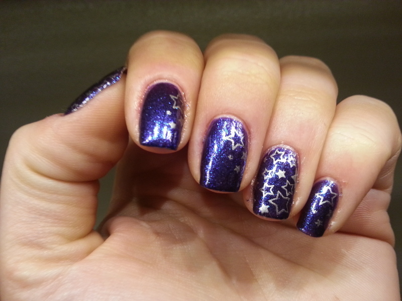 stars are shining nail art by redteufelchen86