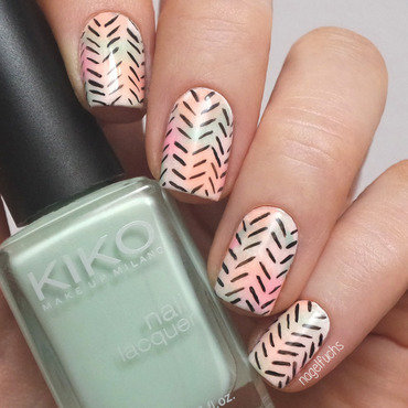 Pastel Watercolour Tribal nail art by nagelfuchs