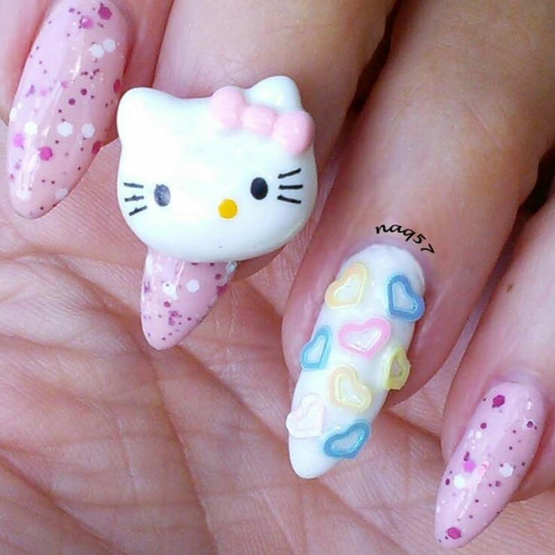 Hello Kitty 3d Nail Art Supplies Meinafrikanischemangotabletten
