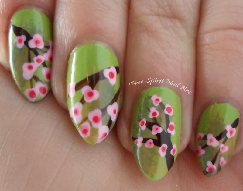 Cherry Blossoms nail art by Free_Spirit_Nail_Art