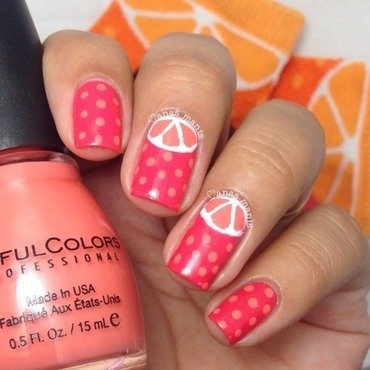 Orange dotticure  nail art by anas_manis
