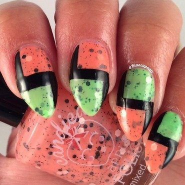 Starch and Geometry nail art by Bianca  Pants