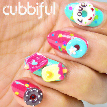 Donuts & Icecreams Nail Charms nail art by Cubbiful