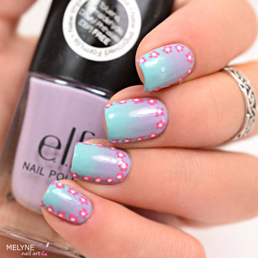 gradient nails and ruffian nail art by melyne nailart