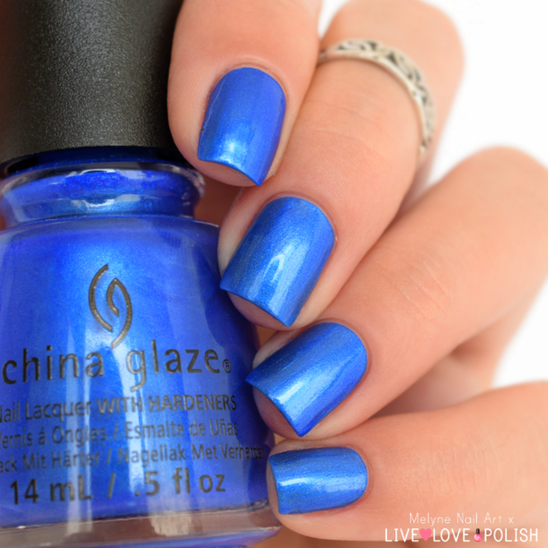 China Glaze Frostbite Swatch by melyne nailart