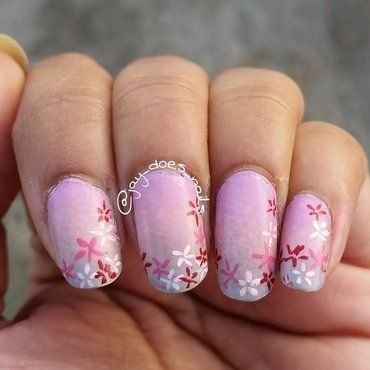 Blossoms  nail art by Jaya Kerai