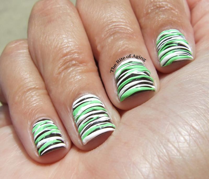 Mint Chocolate Sugarspun Nail Art nail art by Monica