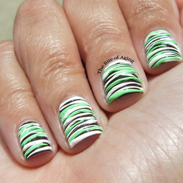 Mint Chocolate Sugarspun Nail Art nail art by Monica