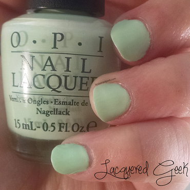 OPI That's Hula-rious! Swatch by Kim (Lacquered Geek)