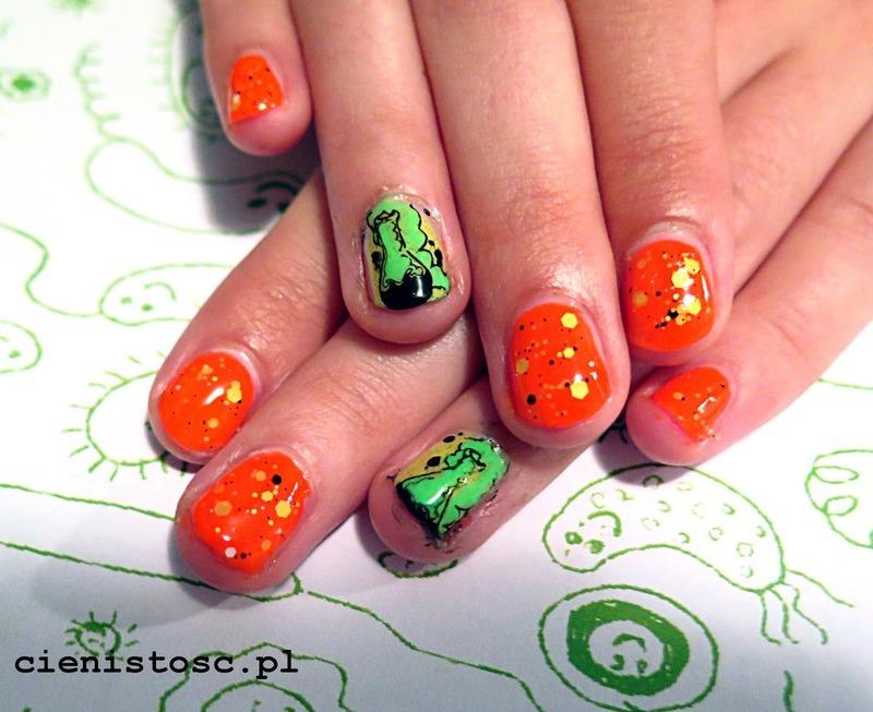Explosive neons nail art by theCieniu