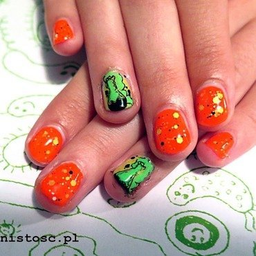 Explosive neons nail art by theCieniu