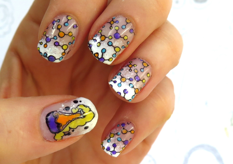 Chemical passion nail art by theCieniu