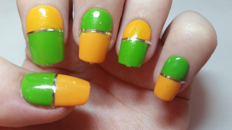 Green And Yellow Summer Nails Nail Art By Ellie Louise Nailpolis