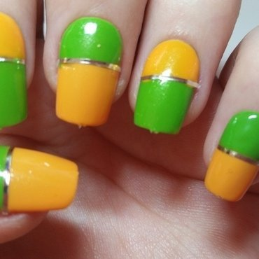 Green and Yellow Summer nails!  nail art by Ellie Louise