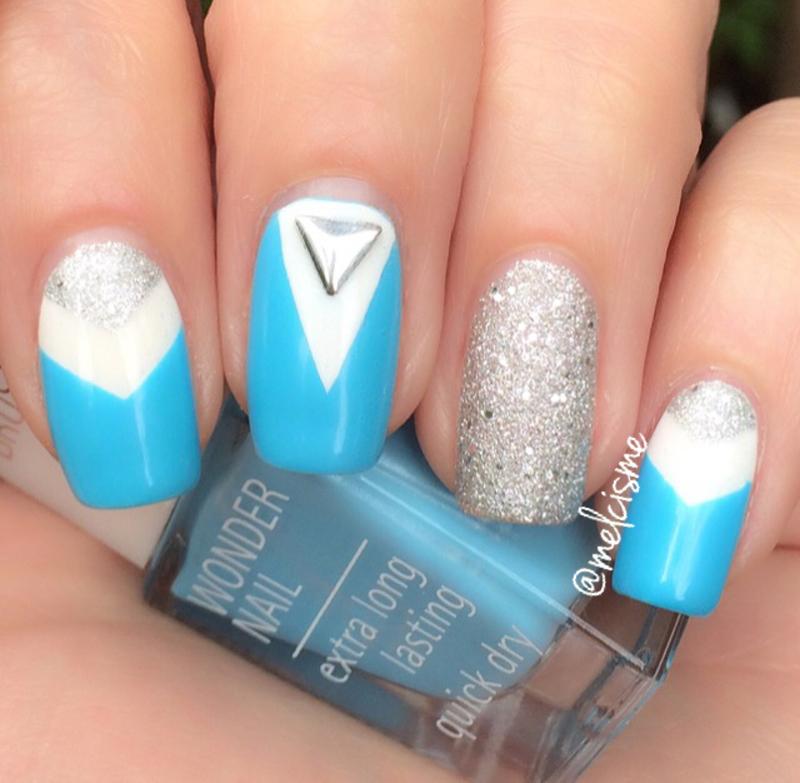 chevrons nail art by Melissa