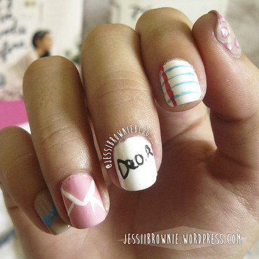 To All The Boys I Loved Before Nail Art nail art by Jessi Brownie (Jessi)
