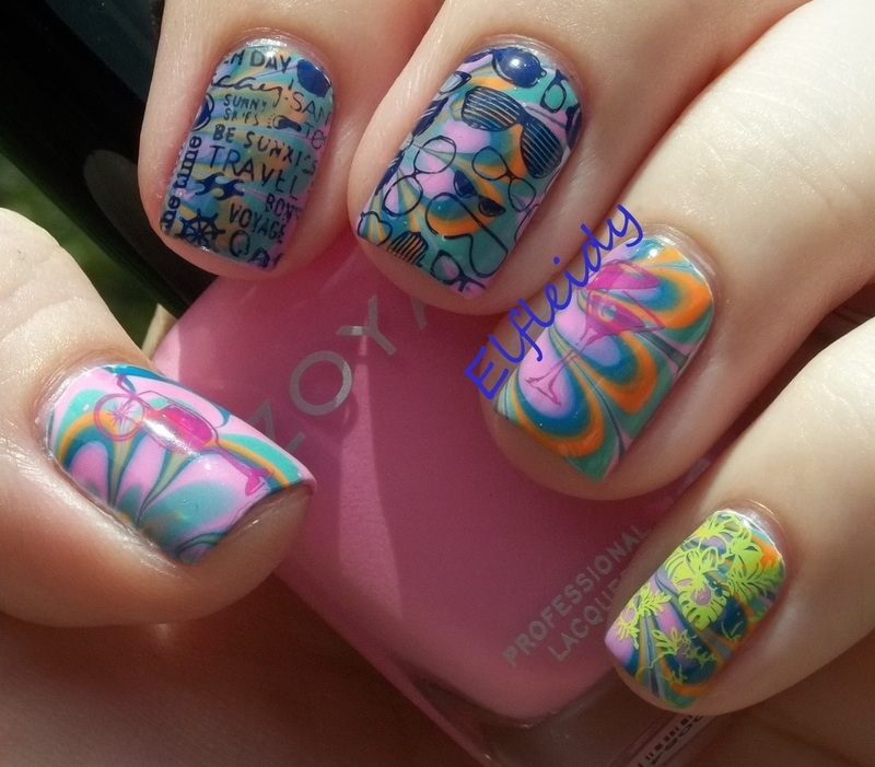 Stamping Sunday 6-14-2015 nail art by Jenette Maitland-Tomblin