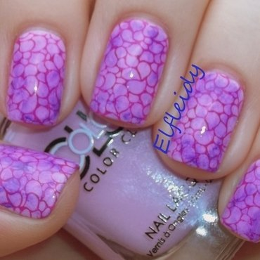 30DoCC- purple/Sharpie marble nail art by Jenette Maitland-Tomblin