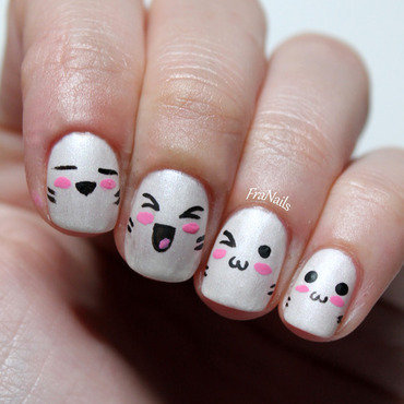Happy Kawaii Nails nail art by Fran Nails