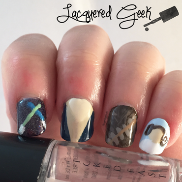 Star Wars Day nails nail art by Kim (Lacquered Geek)
