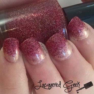 Glitter Gradient nail art by Kim (Lacquered Geek)