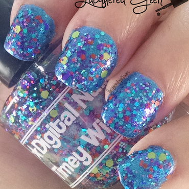 Digital Nails Timey Wimey Swatch by Kim (Lacquered Geek)
