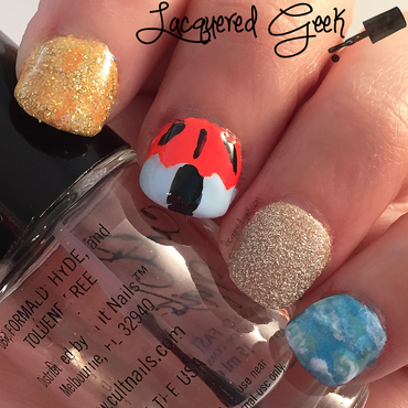 Beach nail art by Kim (Lacquered Geek)